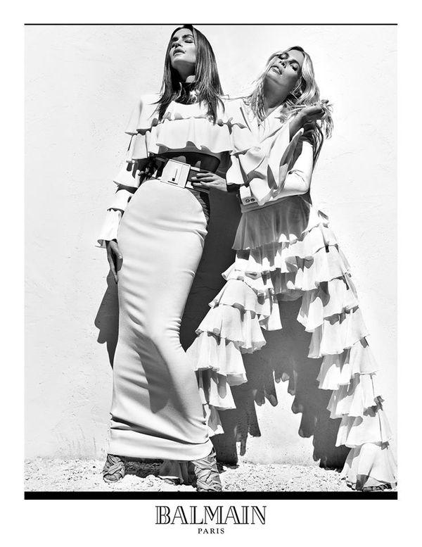 Claudia Schiffer, Cindy Crawford i Naomi Campbell x Balmain