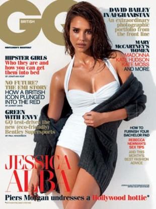 Jessica Alba w bieli na okładce GQ