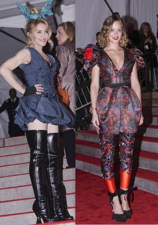 Madonna i Leighton Meester w LV