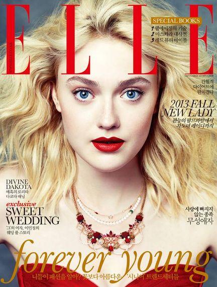 Elle Fanning (Miss Vogue) vs Dakota Fanning (Bazaar)