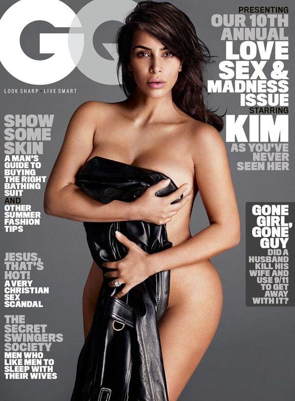 Naga Kim Kardashian na okładce GQ pół roku po urodzeniu dziecka