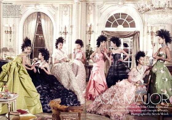 Azjatyckie piękności  dla amerykańskiego  Vogue'a