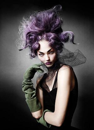 Sasha Pivovarova w niezwykłej stylizacji