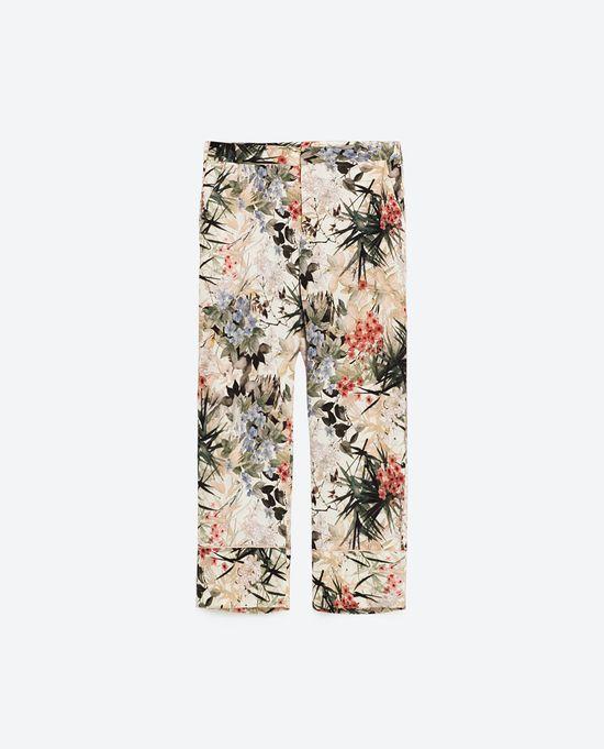 Zara Satin Mood - Kwiatowe wzory w kolekcji na jesień 2016