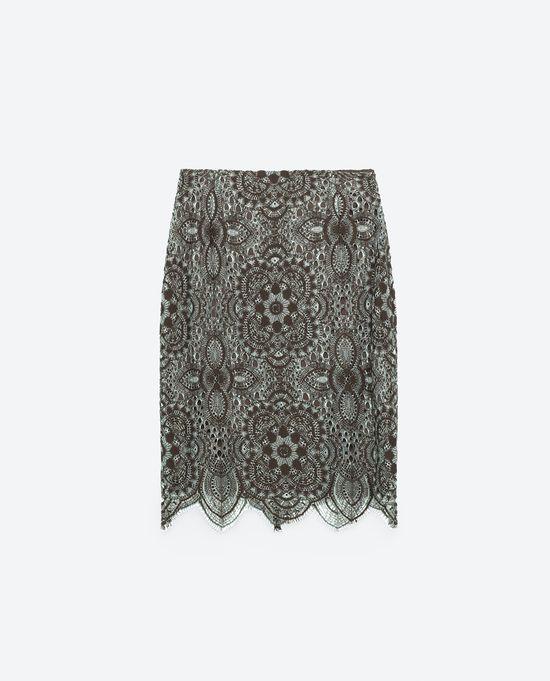 Krótkie spódnice na jesień 2016 - 10 propozycji Zary TRF
