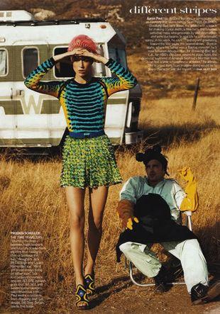 Raquel Zimmermann w styczniowym Vogue