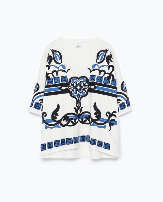 Zara TRF - Klasyczna biało-niebieska mieszanka nowości