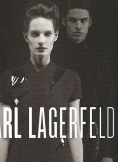 Iris Strubegger w kampanii Karla Lagerfelda