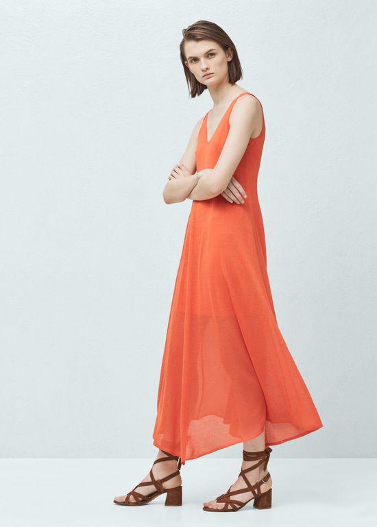 Wyprzedaż w Mango – 10 długich sukienek na lato 2016