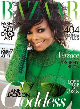 Janet Jackson w zieleni