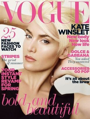 Kate Winslet jako platynowa blondynka w Vogue