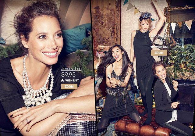 Liu Wen, Cora Emmanuel, Doutzen Kroes i Christy Turlington w kampanii H&M