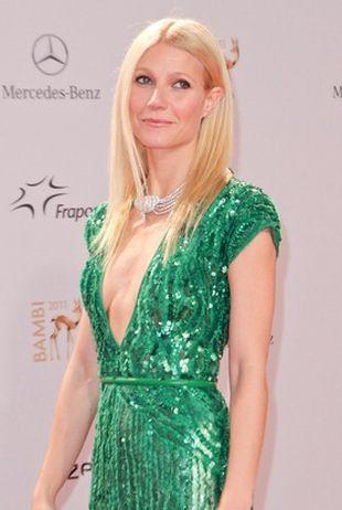 Gwyneth Paltrow w zielonej sukni Elie Saab (FOTO)