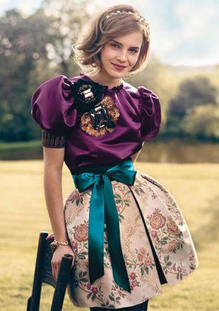 Emma Watson jako angielska elegantka
