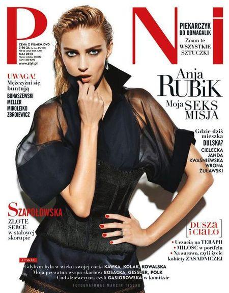 Anja Rubik na okładkach magazynów