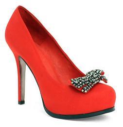 Bardzo czerwone pantofelki