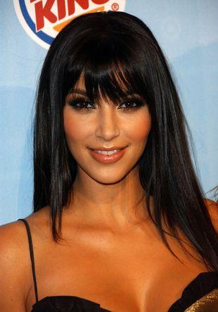 Kim Kardashian skąpana w złocie