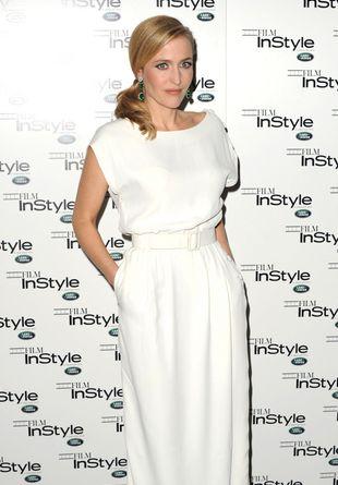 Gillian Anderson w sukni vintage od Diora (FOTO)