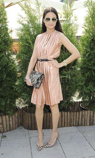 Joanna Horodyńska w sukience Miu Miu
