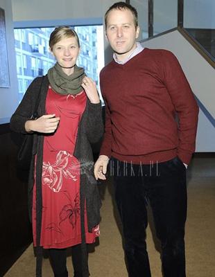 Agata Buzek w czerwonej sukience