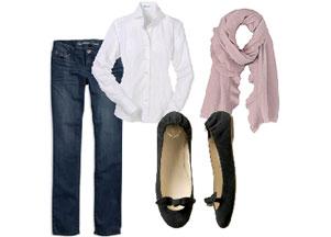Biała bluzka i dżinsy - duet idealny