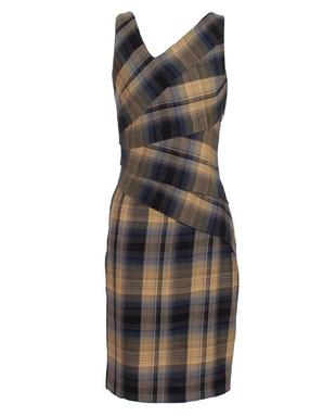 Asymetryczna sukienka w kratę