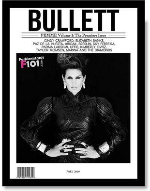 Cindy Crawford na  okładce Bullet Magazine