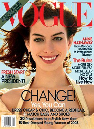 Anne Hatheway dla magazynu Vogue