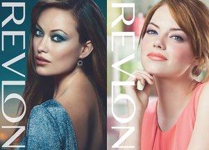 Olivia Wilde i Emma Stone dla Revlon