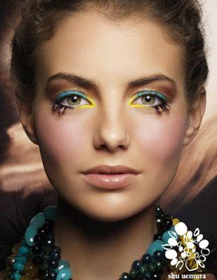 Shu Uemura - turkusy i żółcie na oczach