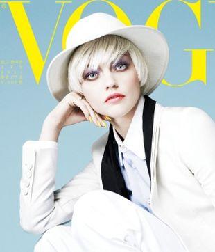 Sasha Pivovarova na okładce Vogue Korea