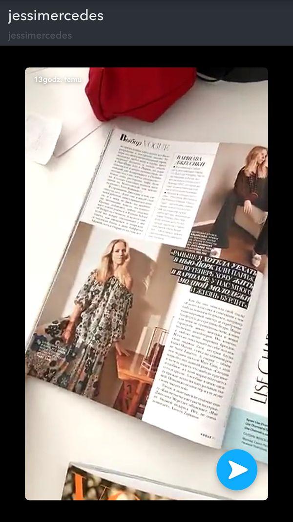 Jessica Mercedes spełniła największe marzenie - znalazła się w papierowym Vogue!