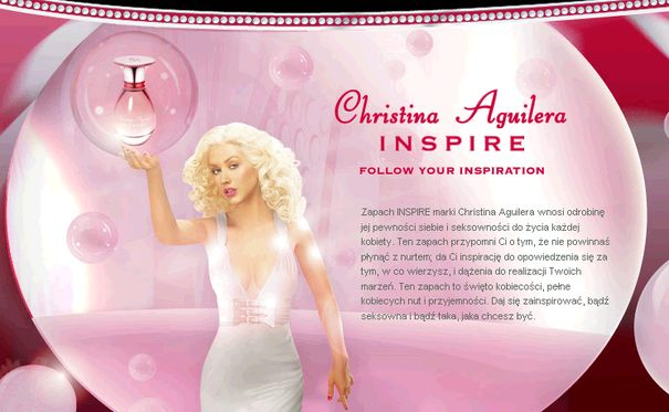 Reklama perfum Inspire Christiny Aguiery