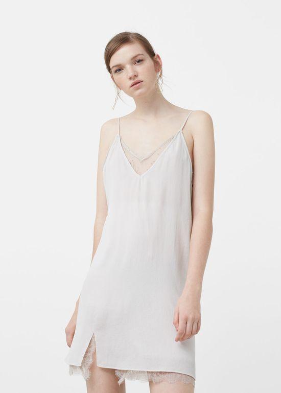 Jesienne nowości Mango - 10 modnych sukienek w bieliźnianym stylu