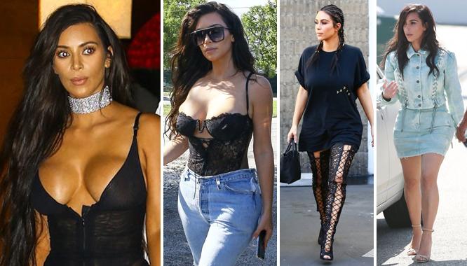 Zanim usunęła się w cień... 36 stylizacji na 36. urodziny Kim Kardashian