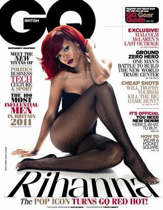 Rihanna w kabaretkach dla GQ