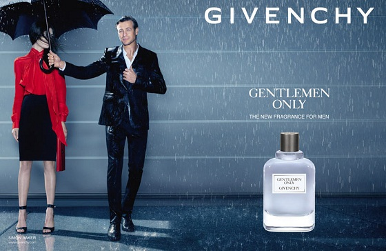Simon Baker w kampanii zapachu Givenchy Gentlemen Only