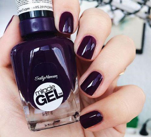 Bordo i fiolet - Noworoczna manicure'owa propozycja z Instagrama od Sally Hansen