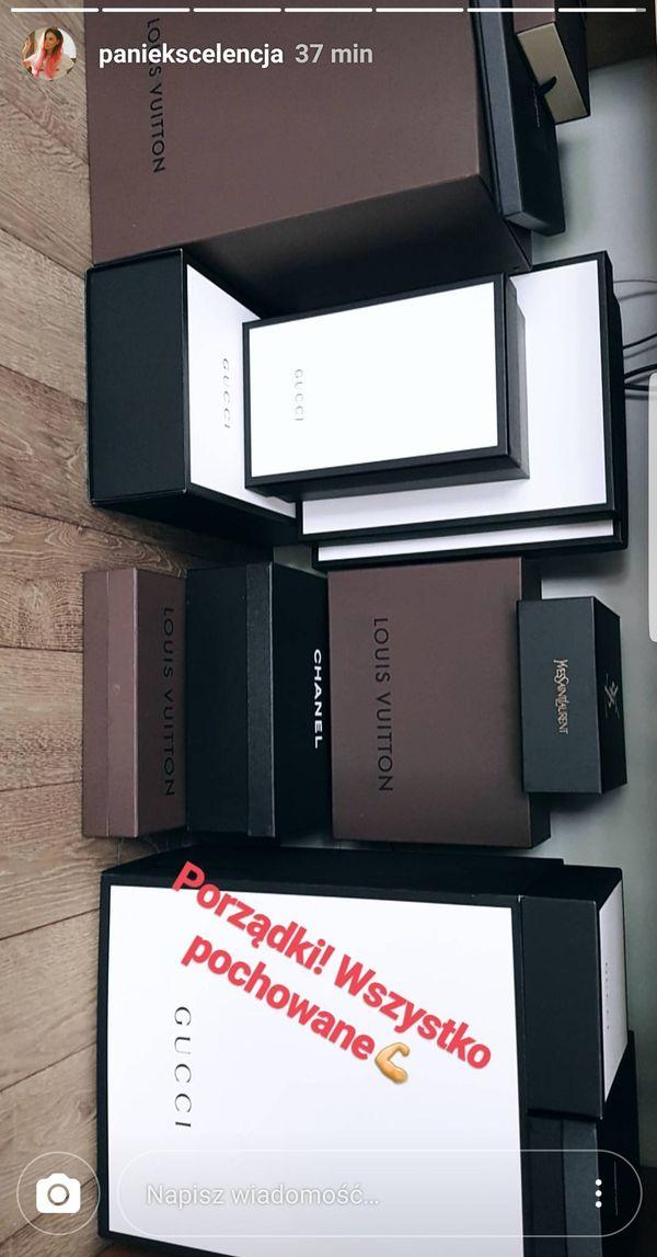 Pani Ekscelencja pokazuje swoją kolekcję markowych dodatków (FOTO)