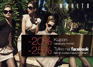 25% zniżki w butikach Mohito!