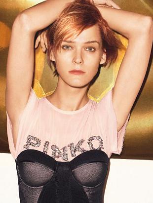 Carmen Kass w wiosennej kampanii reklamowej Pinko