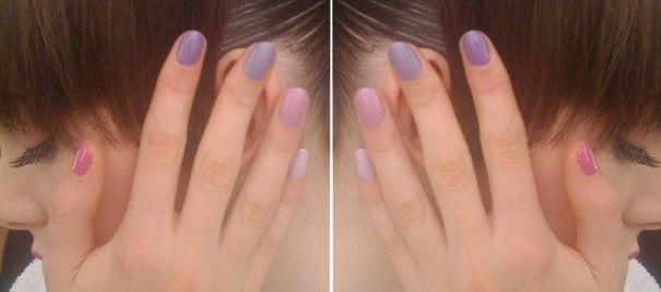 Cieniowane paznokcie