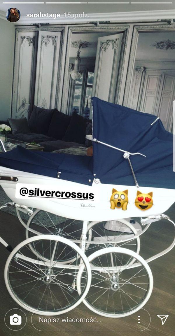 Co tam wózki Anny Lewandowskiej! Zobaczcie pojazd dziecka Sarah Stage! (FOTO)