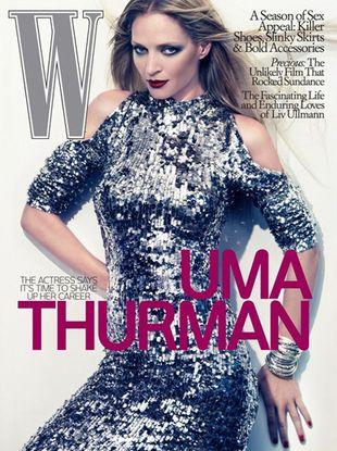 Uma Thurman dla W Magazine