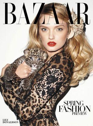 Lily Donaldson w styczniowym Harper's Bazaar (FOTO)