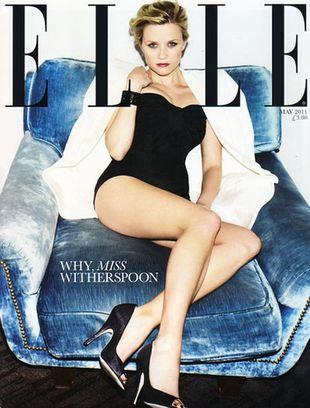 Nadąsana Reese na okładce Elle UK