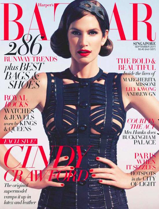Cindy Crawford na okładkach Harper's Bazaar