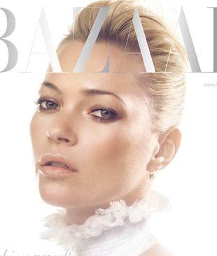 Kate Moss na dwóch okładkach Harper's Bazaar