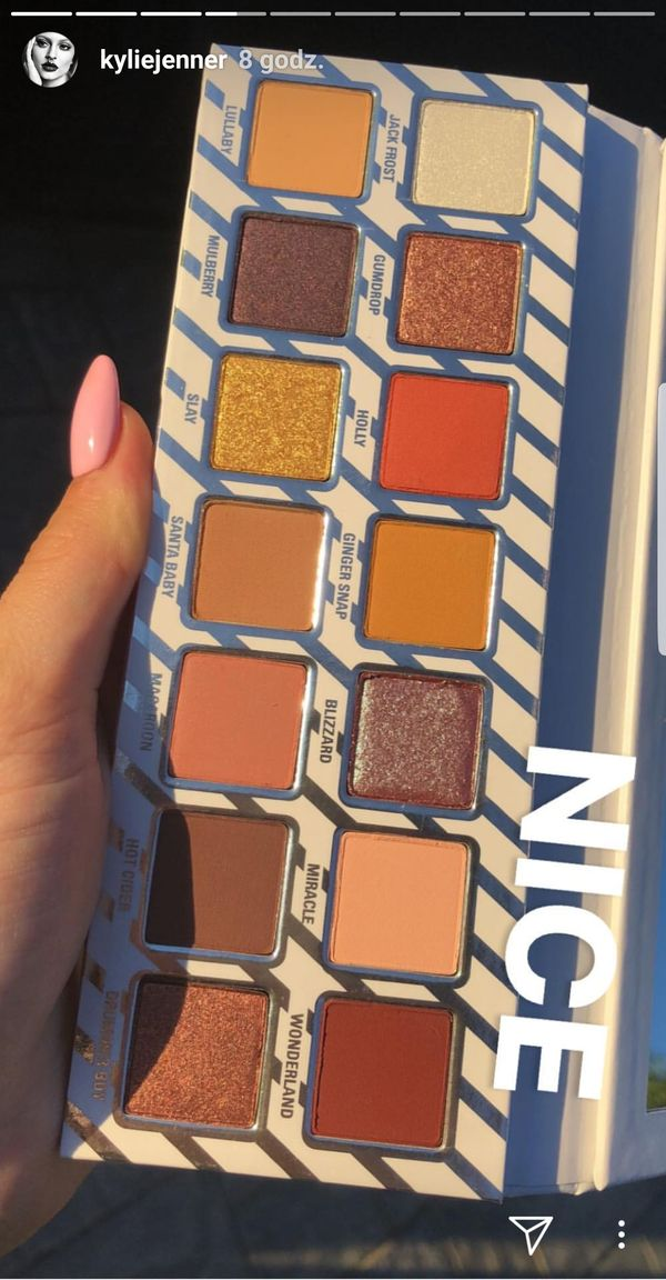 Kylie Jenner pokazała dwie nowe świąteczne palety cieni do powiek (FOTO)