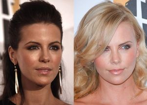 Kate Beckinsale i Charlize Theron - damy w czerni